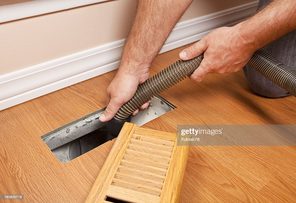Professional Air Duct Cleaning : Stock Photo