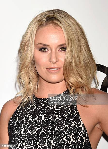 Professional Alpine skier Lindsey Vonn arrives at the Audi Celebrates Emmys Week 2015 at Cecconi's on September 17 2015 in West Hollywood California