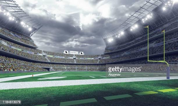 estádio de futebol americano profissional - touchdown - fotografias e filmes do acervo