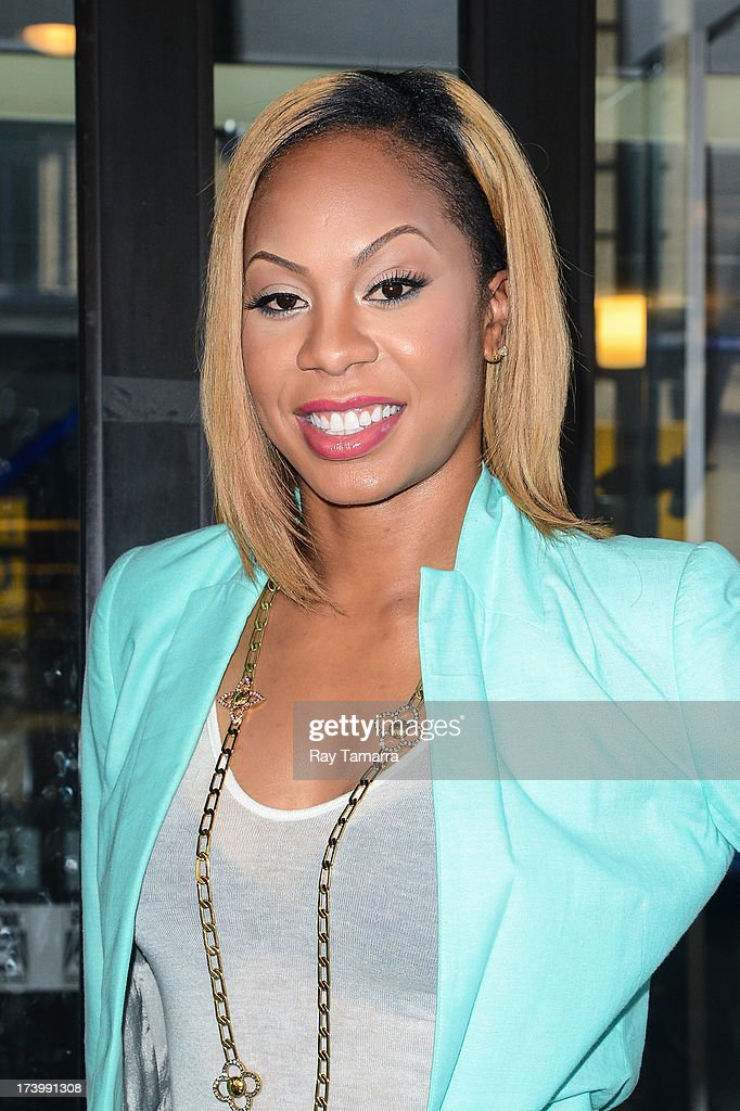 Professional athelete Sanya Richards-Ross enters the 'Good Day New York' taping at the Fox 5 Studios on July 18, 2013 in New York City.