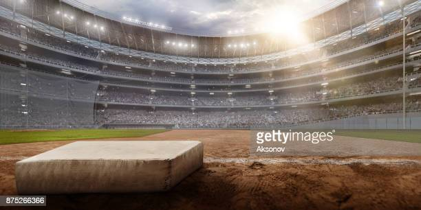 Professional baseball arena in 3D