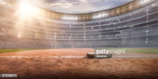 professional baseball arena in 3d - stadium stock pictures, royalty-free photos & images