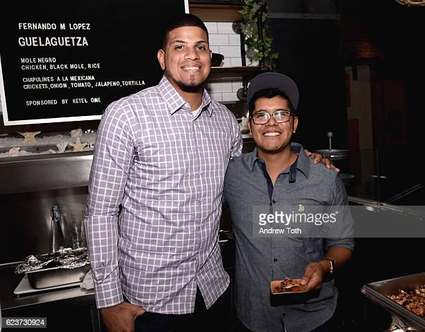 Professional baseball pitcher Dellin Betances and Ketel One Vodka celebrate family legacy of La Guelaguetza with Chef Fernando Lopez during the 2016...