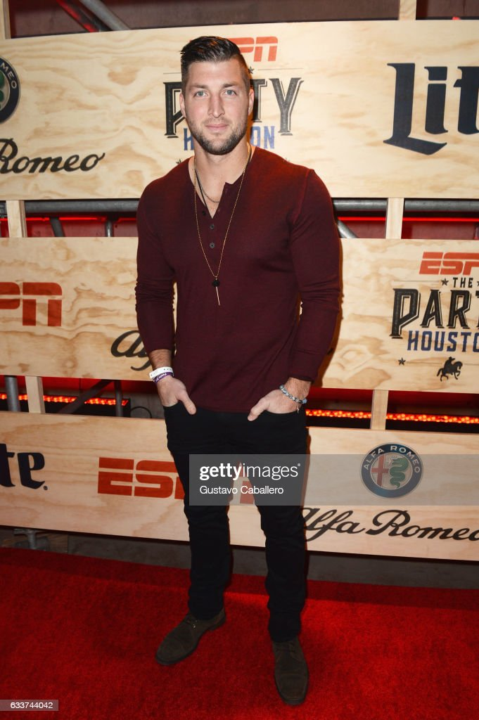 Professional baseball player attends Tim Tebow attends the 13th Annual ESPN The Party on February 3, 2017 in Houston, Texas.
