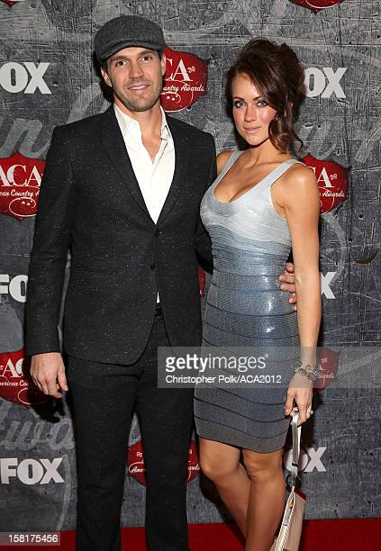 Professional baseball player Barry Zito and Amber Seyer arrive at the 2012 American Country Awards at the Mandalay Bay Events Center on December 10,...