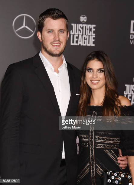 MLB professional baseball player Drew Pomeranz and wife Carolyn Esserman arrive at the Premiere Of Warner Bros Pictures' 'Justice League' at the...