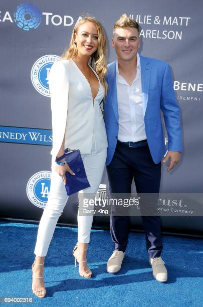 Professional baseball player Enrique Hernandez aka Kike Hernandez and guest attend Los Angeles Dodgers Foundation's 3rd Annual Blue Diamond Gala at...