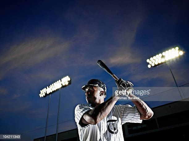 Professional baseball player preparing to hit