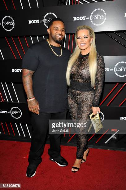 Professional baseball player Prince Fielder and Chanel Fielder at BODY at ESPYS at Avalon on July 11 2017 in Hollywood California