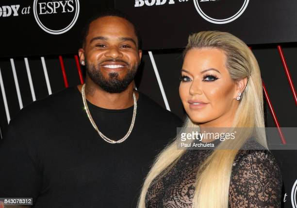 Professional Baseball Player Prince Fielder and his Wife Chanel Fielder attend the ESPN Magazin Body Issue preESPYS party at Avalon Hollywood on July...