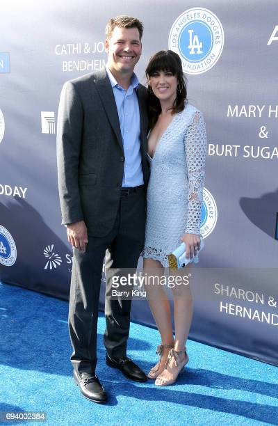 Professional baseball player Rich Hill and wife Caitlin McClellan attend Los Angeles Dodgers Foundation's 3rd Annual Blue Diamond Gala at Dodger...