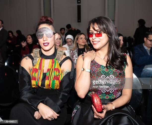 Professional basketball player Aida Bakhos and tv personality Nadia Ahmad attend Jordan Fashion Week 019 on March 30 2019 at the Kempinski Amman in...