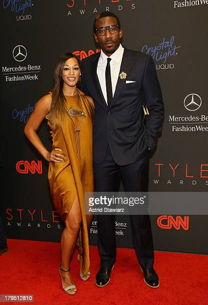 Professional Basketball Player Amar'e Stoudemire and Alexis Welch attend the 10th annual Style Awards during Mercedes Benz Fashion Week Spring 2014...
