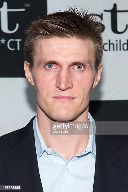 Professional basketball player Andrei Kirilenko attends the Starlight Children's Foundation 25th Annual Sports Auction at Hard Rock Cafe Times Square...
