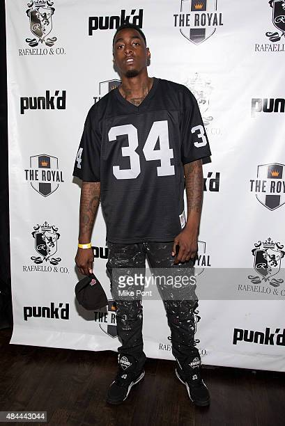 """Professional basketball player Anthony Mason Jr. Attends the """"Punk'd!"""" private celebrity viewing party at The Royal on August 18, 2015 in New York..."""