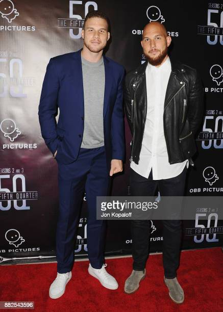 Professional basketball player Blake Griffin and brother Taylor Griffin attend the premiere Of OBB Pictures And go90's The 5th Quarter at United...