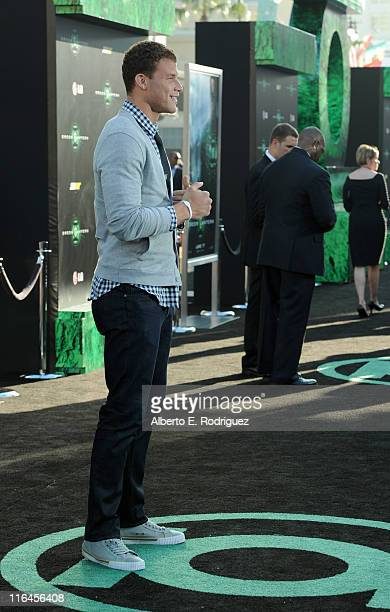 Professional basketball player Blake Griffin arrives at the premiere of Warner Bros Pictures' Green Lantern held at Grauman's Chinese Theatre on June...