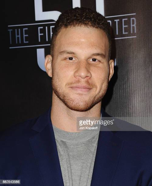 """Professional basketball player Blake Griffin attends the premiere Of OBB Pictures And go90's """"The 5th Quarter"""" at United Talent Agency on November..."""