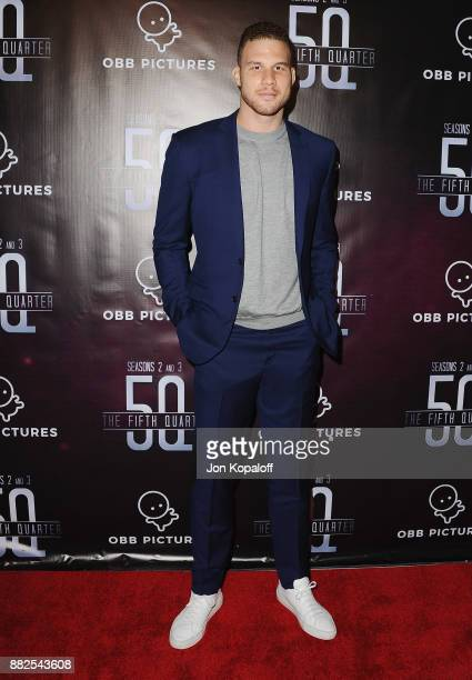 Professional basketball player Blake Griffin attends the premiere Of OBB Pictures And go90's The 5th Quarter at United Talent Agency on November 29...