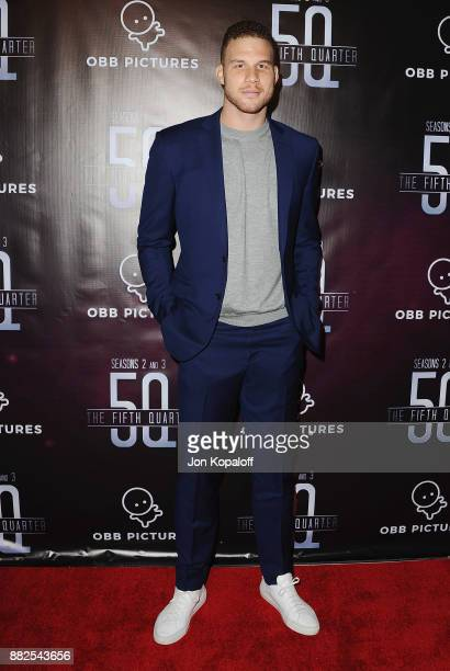 Professional basketball player Blake Griffin attends the premiere Of OBB Pictures And go90's 'The 5th Quarter' at United Talent Agency on November 29...
