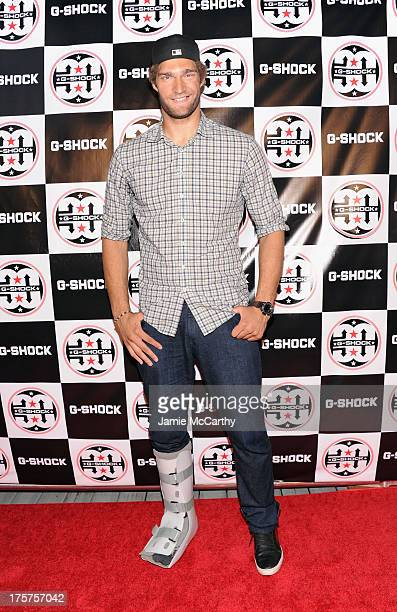 Professional Basketball Player Brook Lopez attends GShock Shock The World 2013 at Basketball City on August 7 2013 in New York City