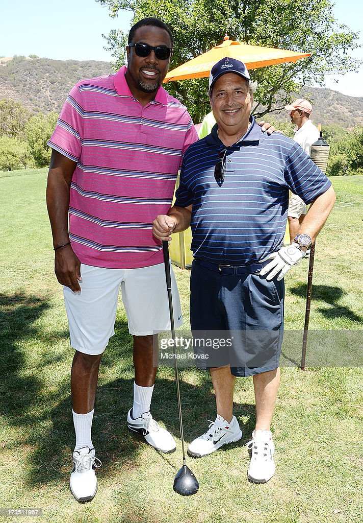 Professional basketball player Cedric Ceballos (L) and actor Jon Lovitz attend The 4th annual Alex Thomas Celebrity Golf Classic presented by Belvedere at Mountain Gate Country Club on July 15, 2013 in Los Angeles, California.