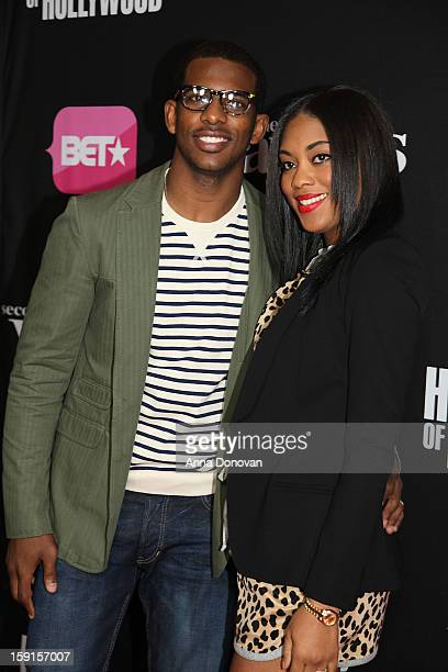 Professional basketball player Chris Paul and wife Jada arrives at the screenings of BET Networks' 'Real Husbands of Hollywood' and 'Second...