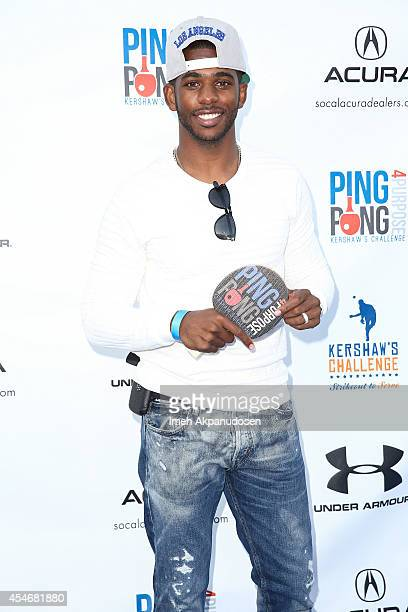 Professional basketball player Chris Paul attends Clayton Kershaw's 2nd Annual Ping Pong 4 Purpose charity event benefiting 'Kershaw's Challenge' at...
