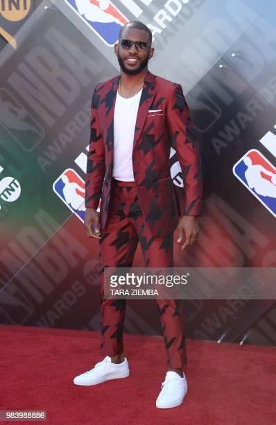 Professional basketball player Chris Paul attends the 2018 NBA Awards at Barkar Hangar on June 25, 2018 in Santa Monica, California.