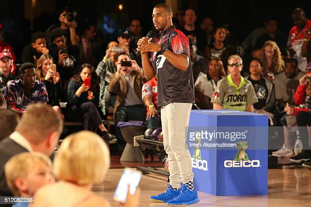 Professional basketball player Chris Paul attends the CP3 PBA Celebrity Invitational Charity Bowling Tournament presented by GoBowlingcom at Lucky...