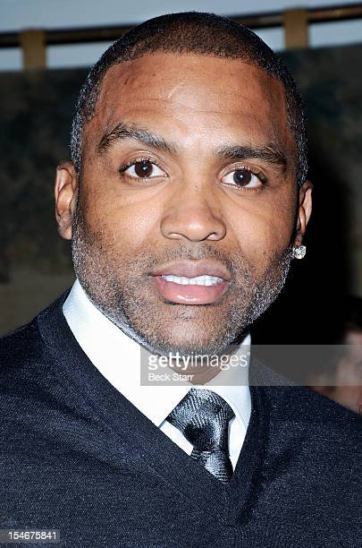 Professional basketball player Cuttino Mobley attends Linda's Voice benefit in support of Domestic Violence Awareness Month on October 23 2012 in...