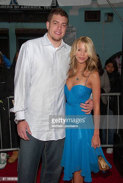 Professional Basketball Player David Lee and Sabina Gadecki attend BET's and Paramount's special screening of 'Indiana Jones And The Kingdom Of The...