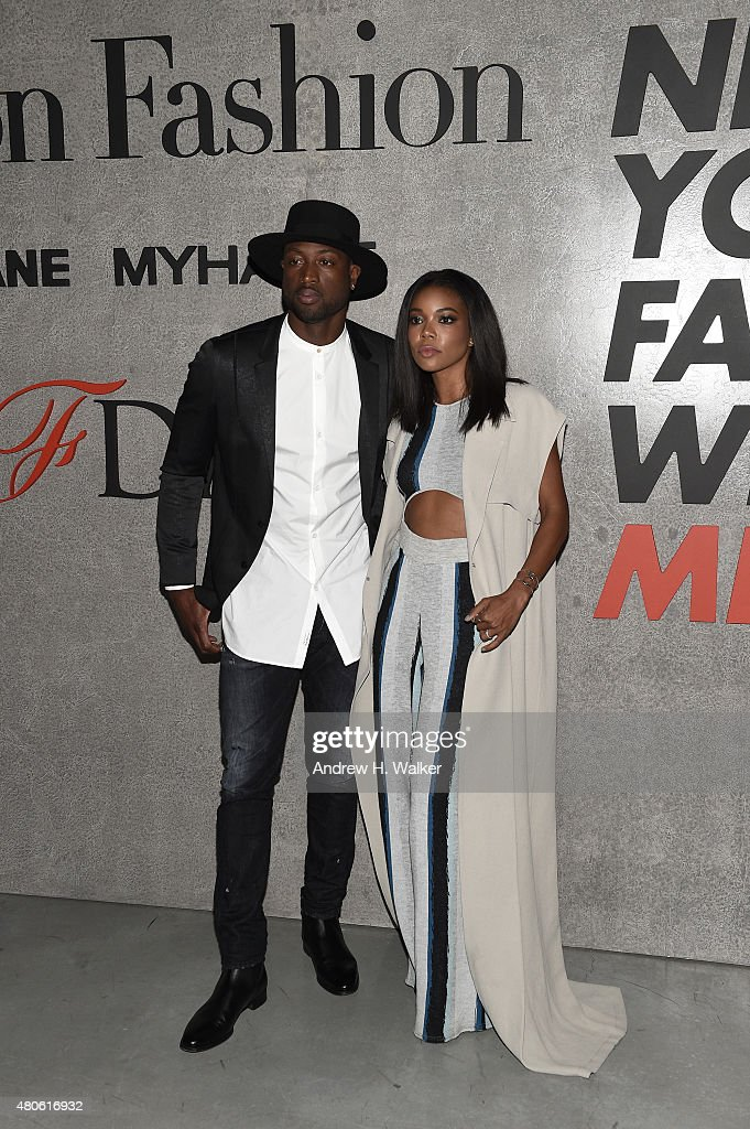 Professional Basketball Player Dwyane Wade (L) and actress Gabrielle Union attend the opening event for New York Fashion Week: Men's S/S 2016 at Amazon Imaging Studio on July 13, 2015 in Brooklyn, New York.