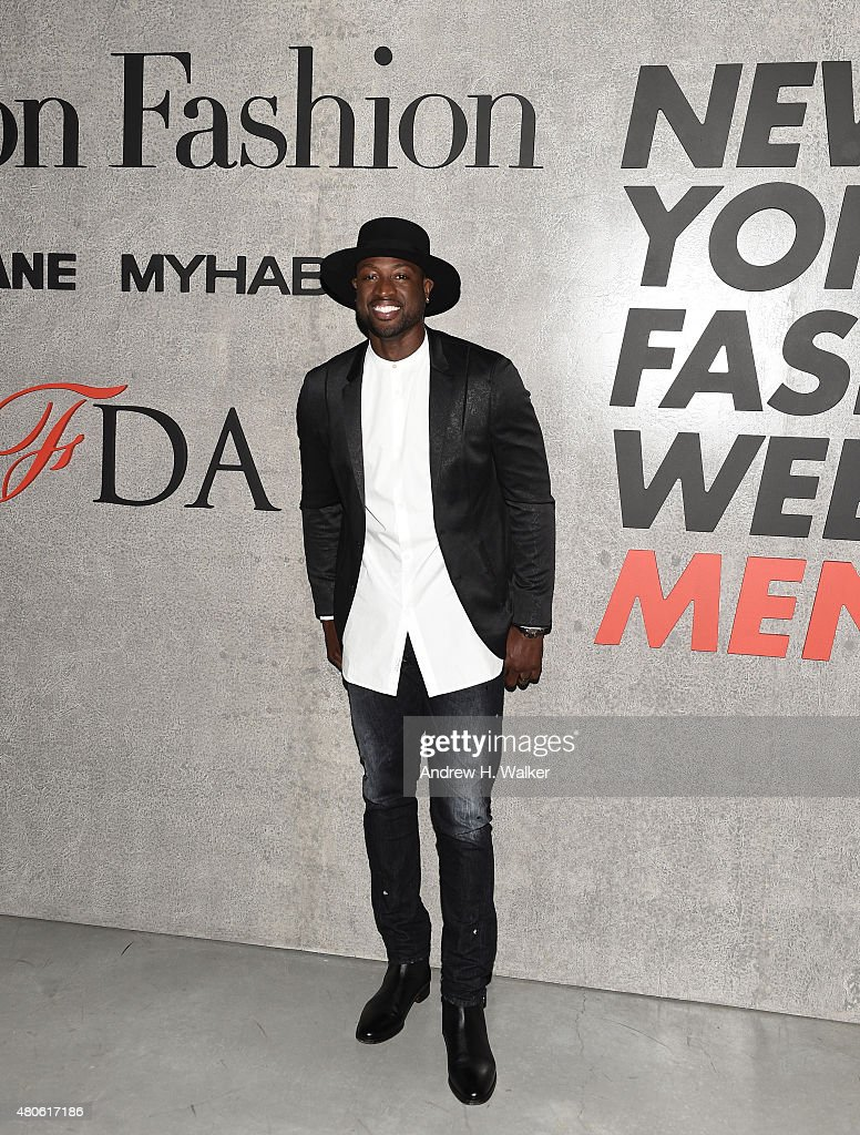 Professional Basketball Player Dwyane Wade attends the opening event for New York Fashion Week: Men's S/S 2016 at Amazon Imaging Studio on July 13, 2015 in Brooklyn, New York.