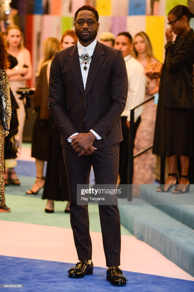 Professional basketball player Dwyane Wade enters the CFDA Fashion Awards at Hammerstein Ballroom on June 5, 2017 in New York City.