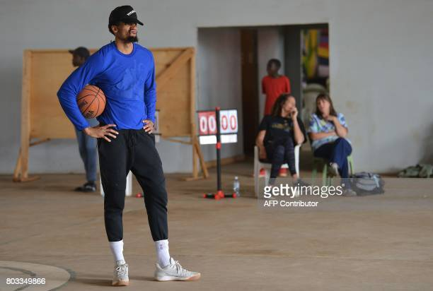 US professional basketball player for the Golden State Warriors of the National Basketball Association James Michael McAdoo stands on June 29 2017...