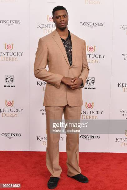Professional basketball player for the Santa Cruz Warriors Terrence Jones attends Kentucky Derby 144 on May 5 2018 in Louisville Kentucky