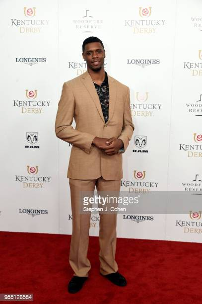 Professional basketball player for the Santa Cruz Warriors Terrence Jones attends The 144th Annual Kentucky Derby at Churchill Downs on May 5 2018 in...