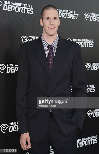 Professional basketball player Greg Somogyi attends Time Warner Sports Celebrates Launch Of Time Warner Cable Sportsnet And Time Warner Cable...