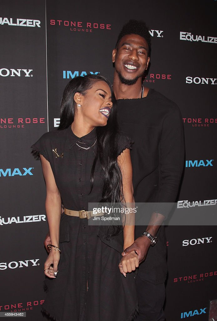 Professional basketball player Iman Shumpert (R) and guest attend 'The Equalizer' New York Screening at AMC Lincoln Square Theater on September 22, 2014 in New York City.