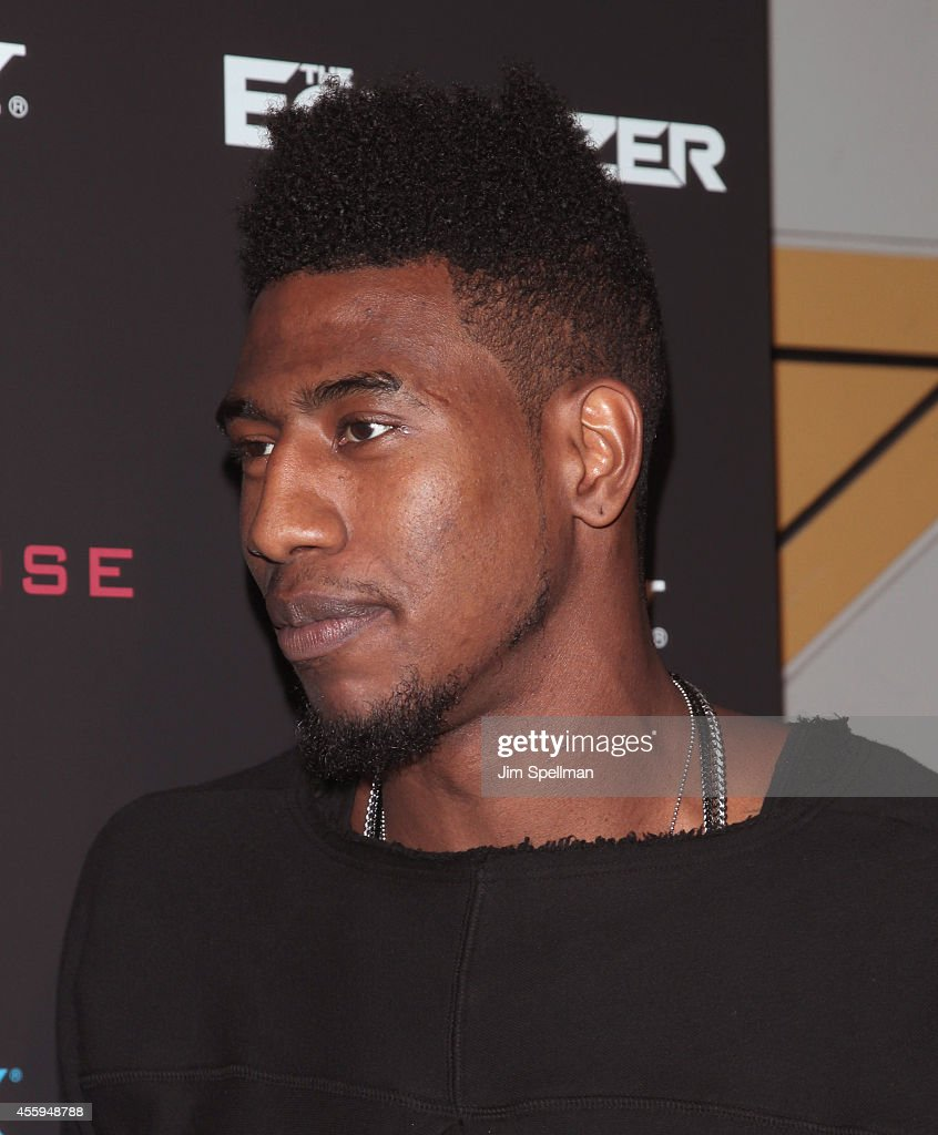 Professional basketball player Iman Shumpert attends 'The Equalizer' New York Screening at AMC Lincoln Square Theater on September 22, 2014 in New York City.