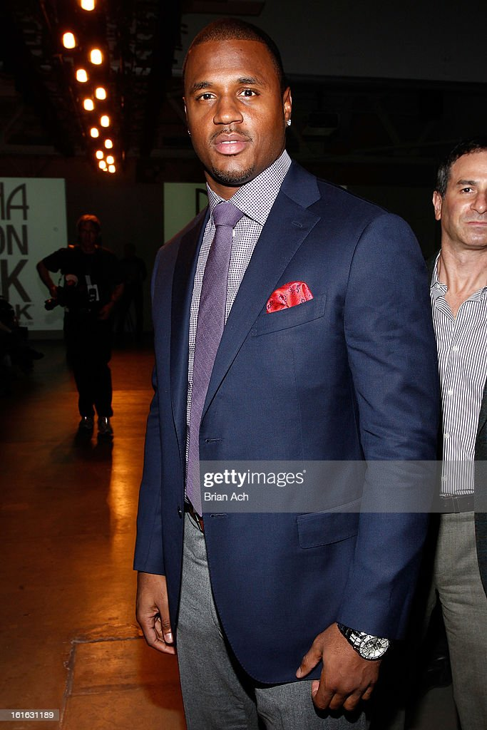 Professional basketball player James Anderson attends Nolcha Fashion Week New York 2013 presented by RUSK at Pier 59 Studios on February 13, 2013 in New York City.