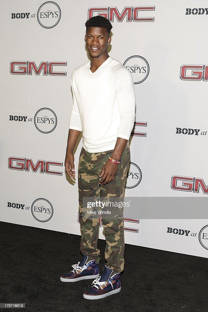 Professional basketball player Jimmy Butler arrives at ESPN the Magazine's 'Body Issue' 5th annual ESPY's event at Lure on July 16, 2013 in Hollywood, California.