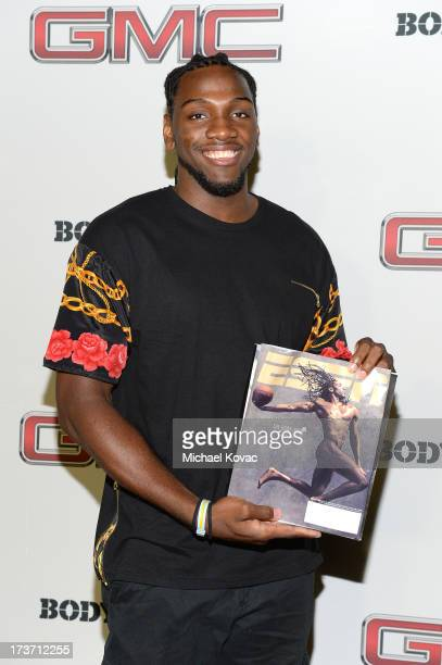 Professional basketball player Kenneth Faried attends ESPN The Magazine 5th annual Body Issue party at Lure on July 16 2013 in Hollywood California