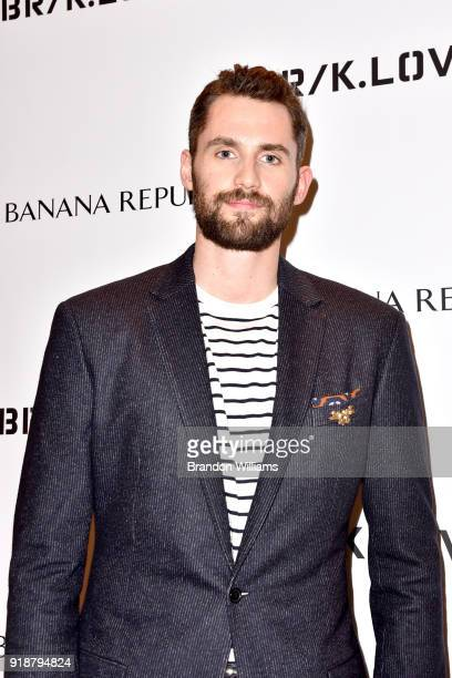 Professional basketball player Kevin Love attends a meet and greet with fans for AllStar Weekend at Banana Republic at The Grove on February 15 2018...