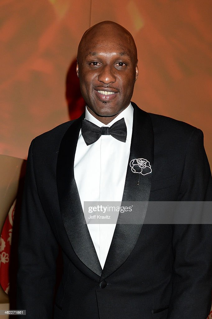 Professional basketball player Lamar Odom attends HBO's Official Golden Globe Awards After Party at The Beverly Hilton Hotel on January 12, 2014 in Beverly Hills, California.