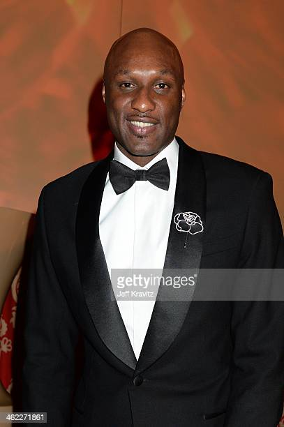 Professional basketball player Lamar Odom attends HBO's Official Golden Globe Awards After Party at The Beverly Hilton Hotel on January 12 2014 in...