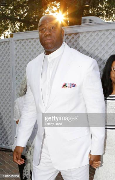 Professional basketball player Magic Johnson at HollyRod Foundation's DesignCare Gala on July 15 2017 in Pacific Palisades California