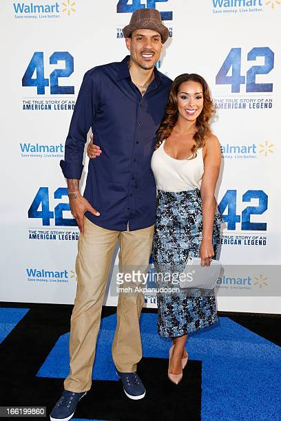 Professional basketball player Matt Barnes and television personality Gloria Govan attend the premiere of Warner Bros Pictures' And Legendary...