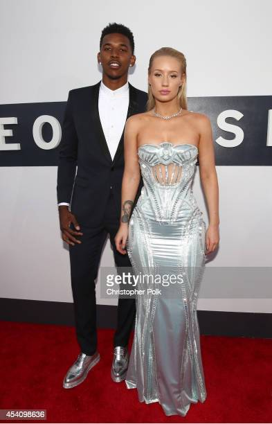 Professional basketball player Nick Young and singer Iggy Azalea attend the 2014 MTV Video Music Awards at The Forum on August 24 2014 in Inglewood...
